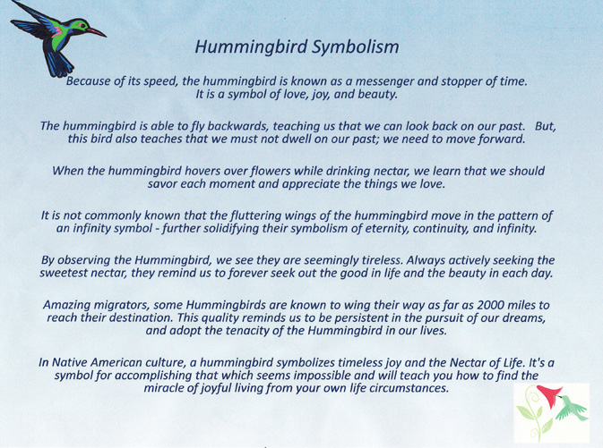 What Does a Hummingbird Symbolize
